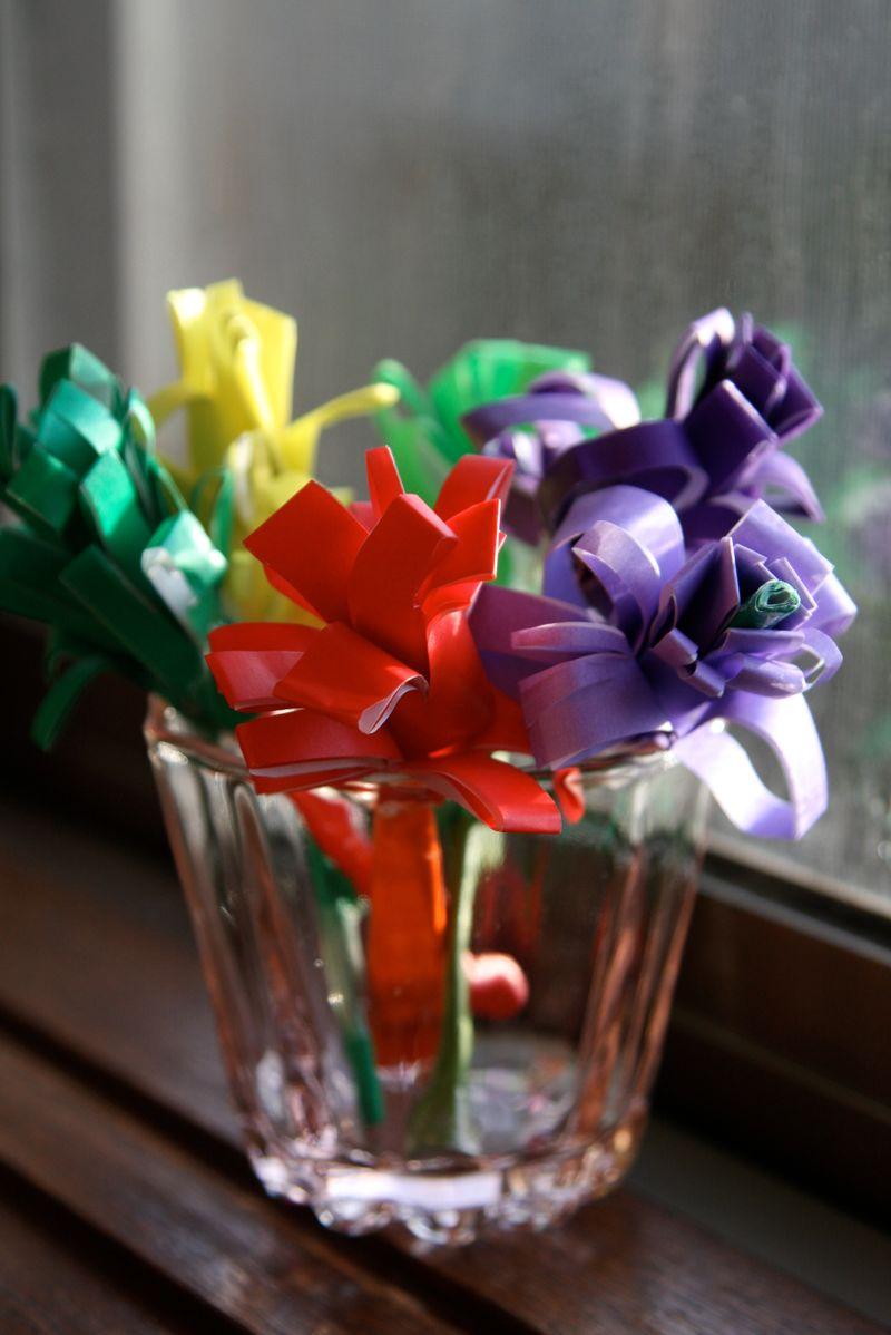 spring flowers: paper hyacinths tutorial